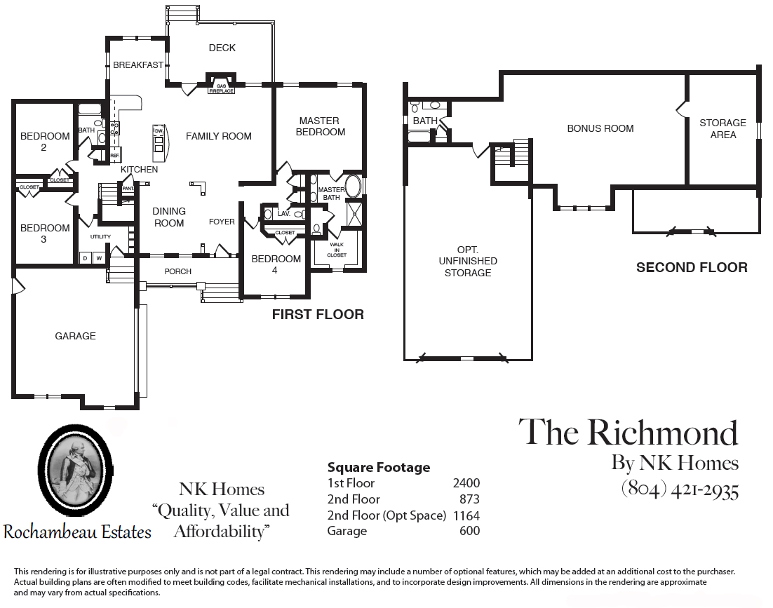 Introducing the richmond home at rochambeau estates nk for 101 richmond floor plans