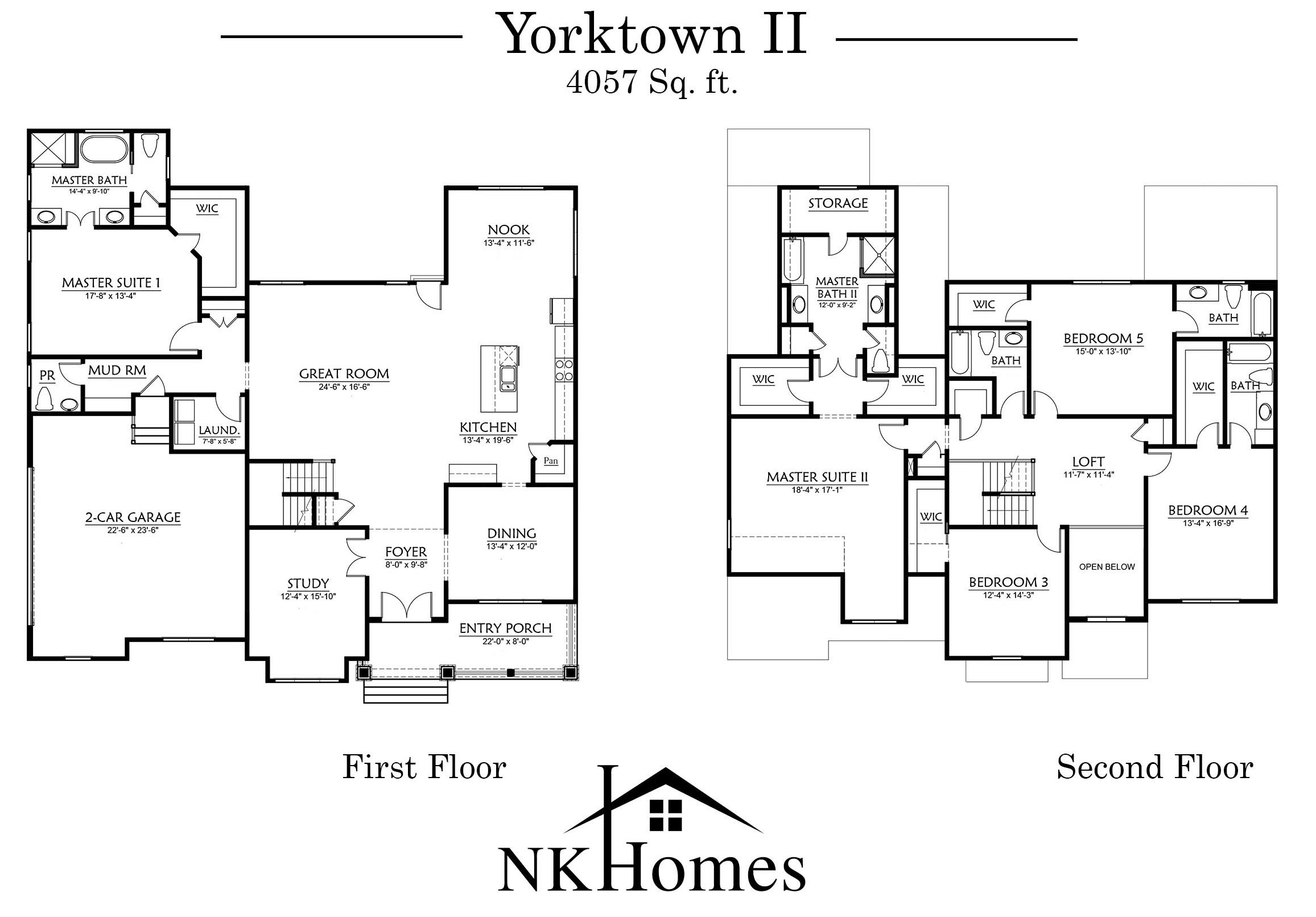 Yorktown 2 Floor Plan - NK Homes